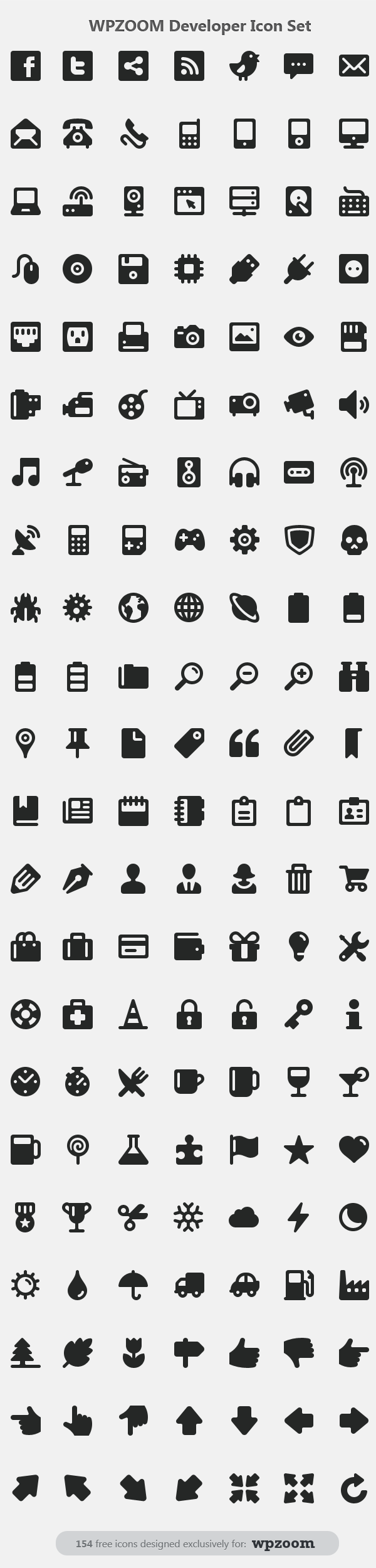 154 free developer icon set in PNG and PSD format | sharehouse ...
