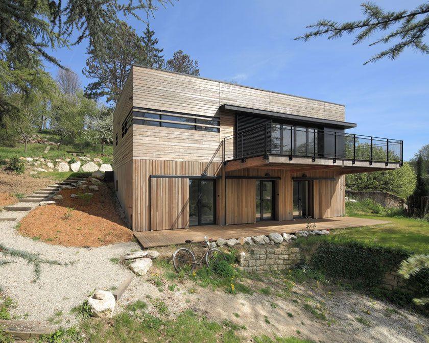 Maison contemporaine du0027architecte - Lyon - a2-sb Maisons de rêve - plan de maison sur terrain en pente
