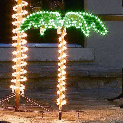 Roman 169483 Lights Tall Holographic Ropelights Palm Tree-Plugs In Statue 30-Inch