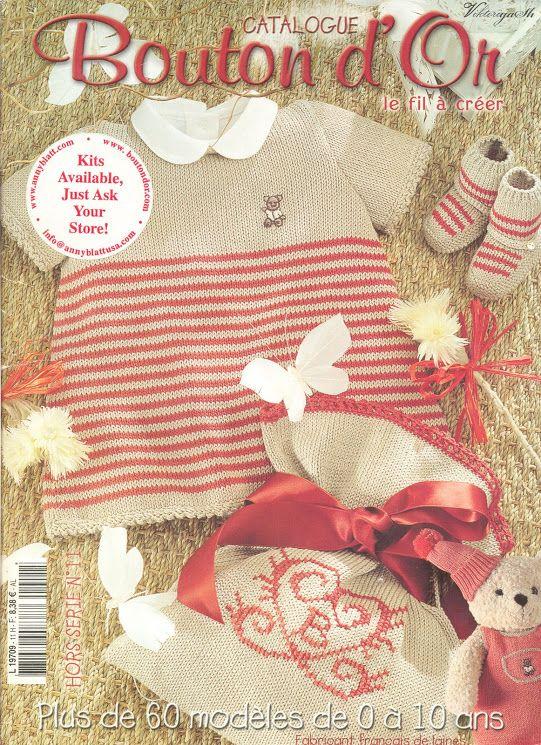 bouton d 39 or 11 explications en anglais knitting crochet knitting baby knitting album. Black Bedroom Furniture Sets. Home Design Ideas