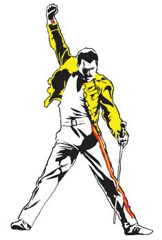 Freddie Mercury Transparent Logo Freddie Mercury Freddie Mercury Tattoo Car Stickers