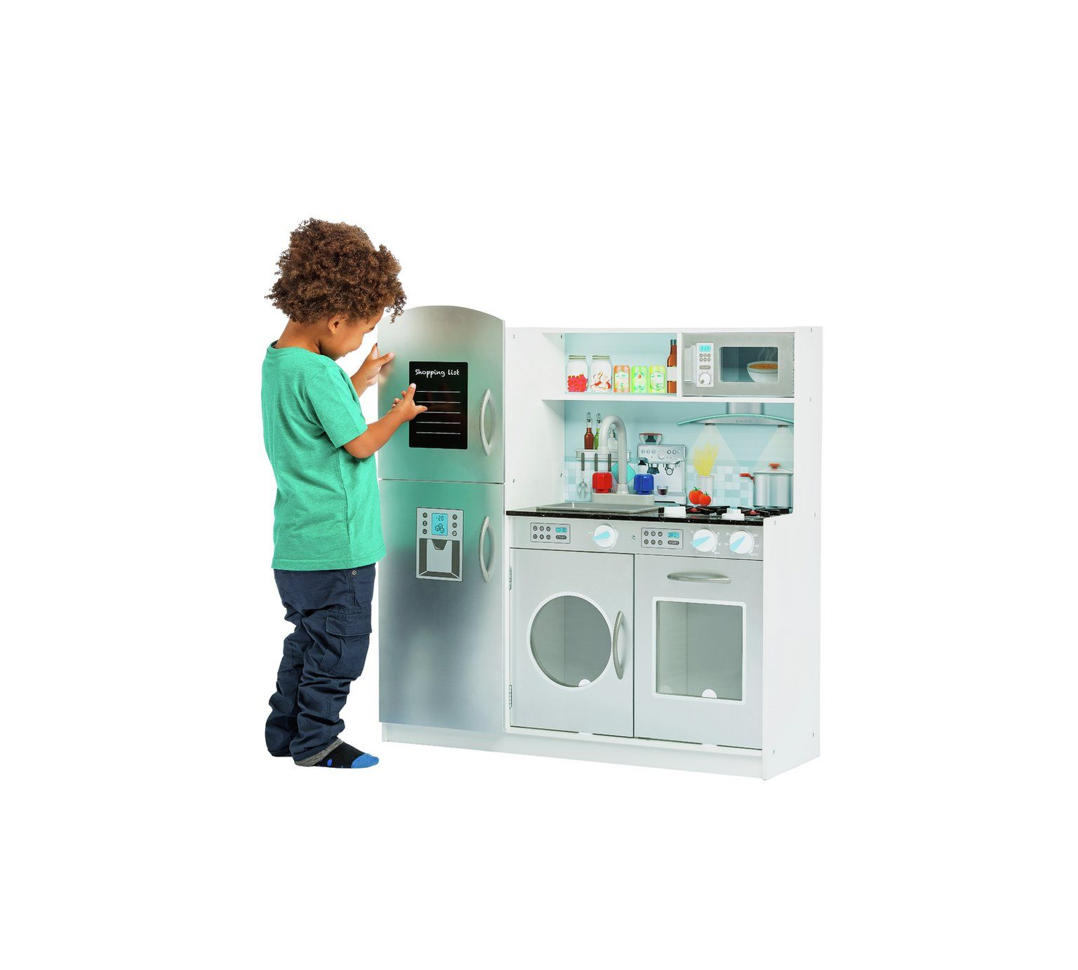 Buy Chad Valley Deluxe Large Wooden Toy Kitchen | Cooking role play ...