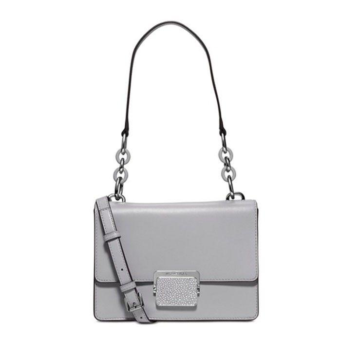 MICHAEL Michael Kors Cynthia Small Leather Shoulder Bag Grey. Michael Kors  OutletCheap ...