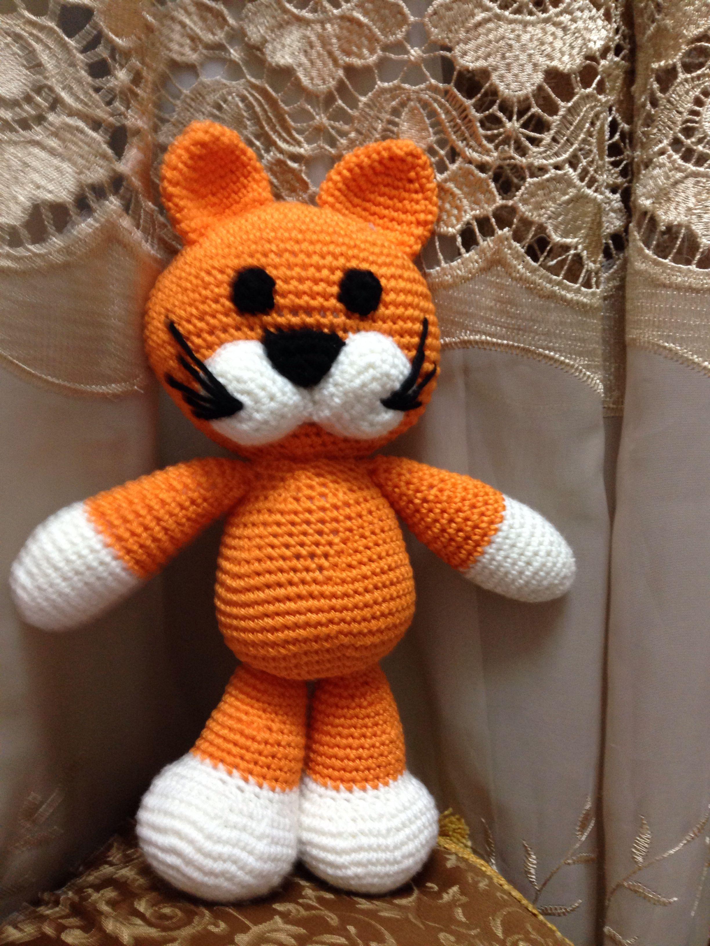 Gatito tejido a crochet | Figuras de crochet de Sanjuanita Guerra ...
