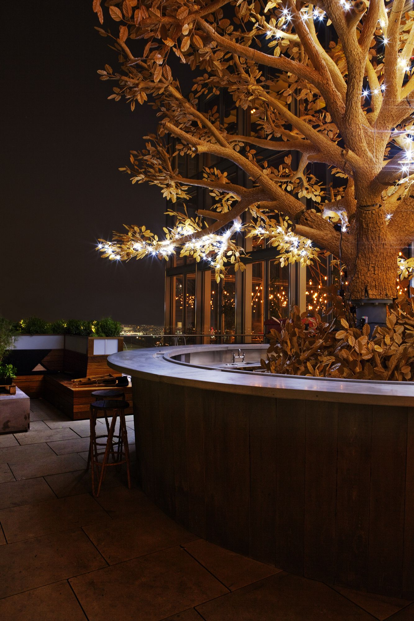 the tree bar on the terrace of SUSHISAMBA London - Can\'t wait to go ...
