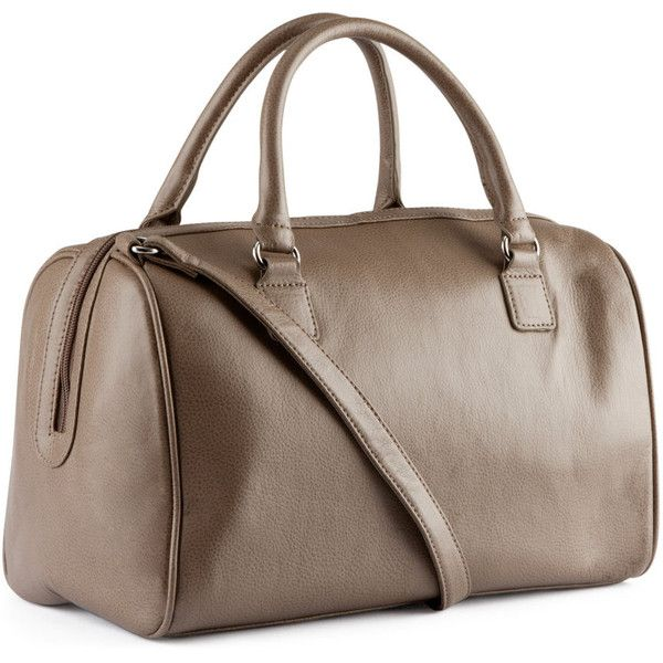 H&M Bag ($23) ❤ liked on Polyvore featuring bags, handbags, sac, h&m, purses, beige, imitation purses, brown purse, vegan handbags and h&m handbags