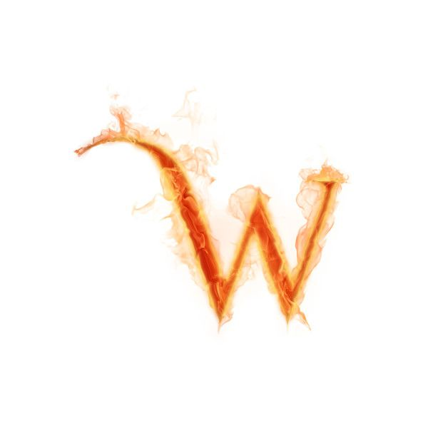 Psd Detail Burning Letter W Official Psds Lettering Hieroglyphics Letter W