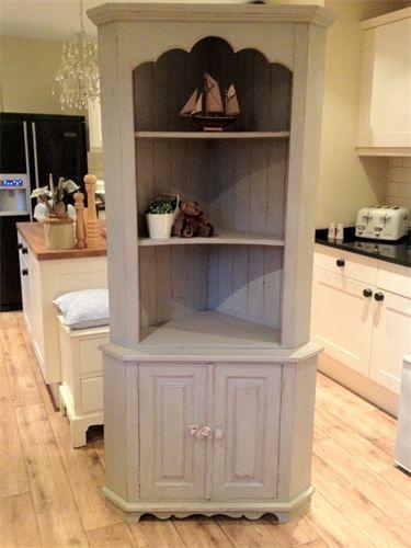 Shabby Chic Corner Dresser Lovely Large Solid Grey Corner