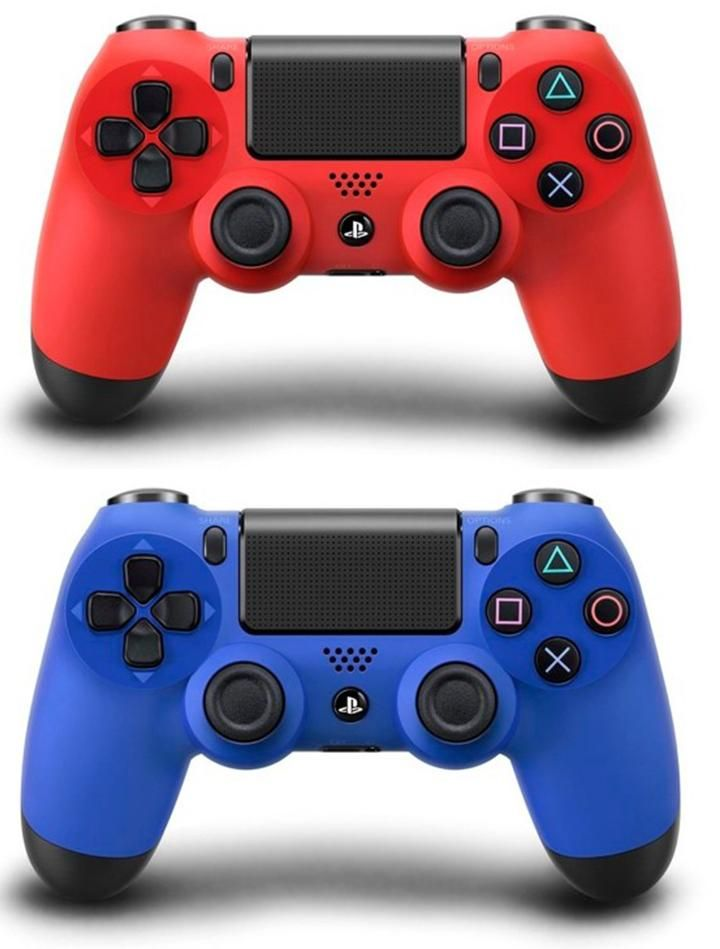 Ps4 Dualshock 4 Controller Colors Magma Red And Wave Blue Video Game Room Design Dualshock Ps4
