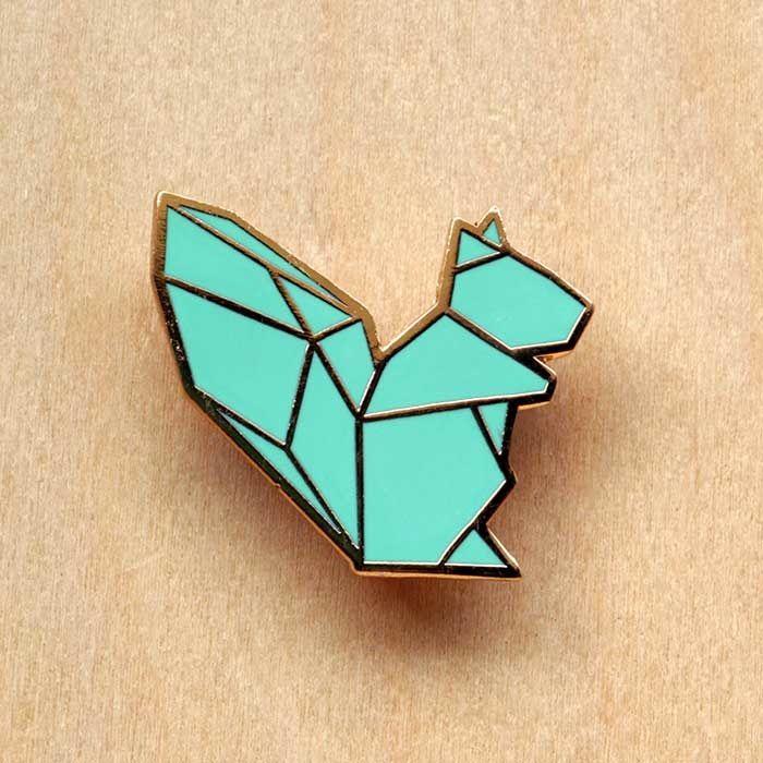 Image of Origami pins: Squirrel