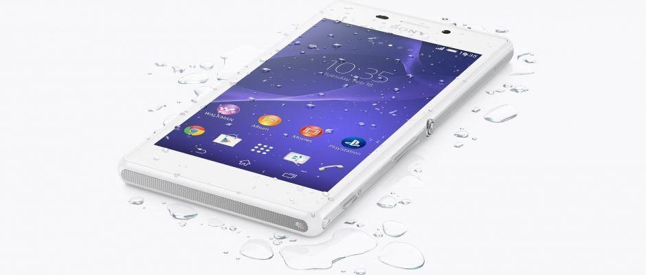 Xperia M2 Aqua adalah ponsel tahan air yang cepat dengan kamera 8 MP dan baterai tahan lama