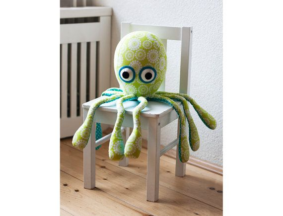 This octopus plush sewing pattern will show you how to make your ...