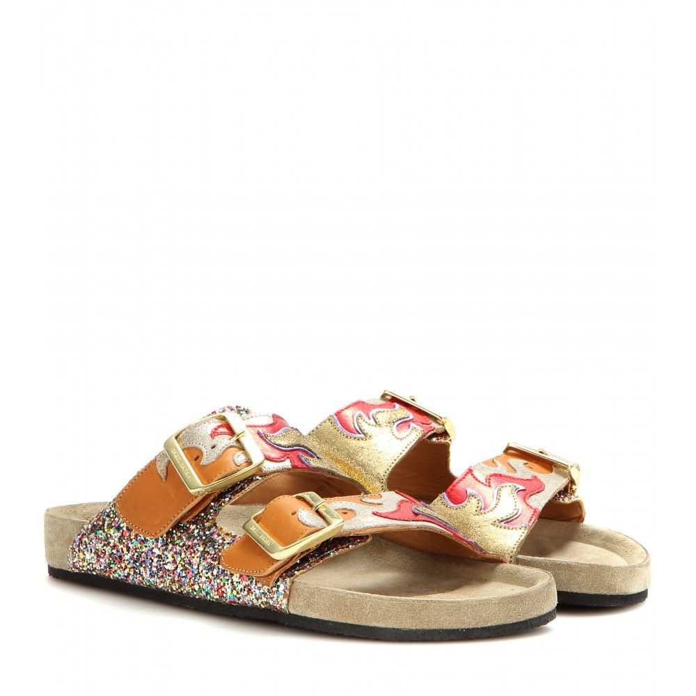 Isabel Marant - Gail leather sandals - mytheresa.com