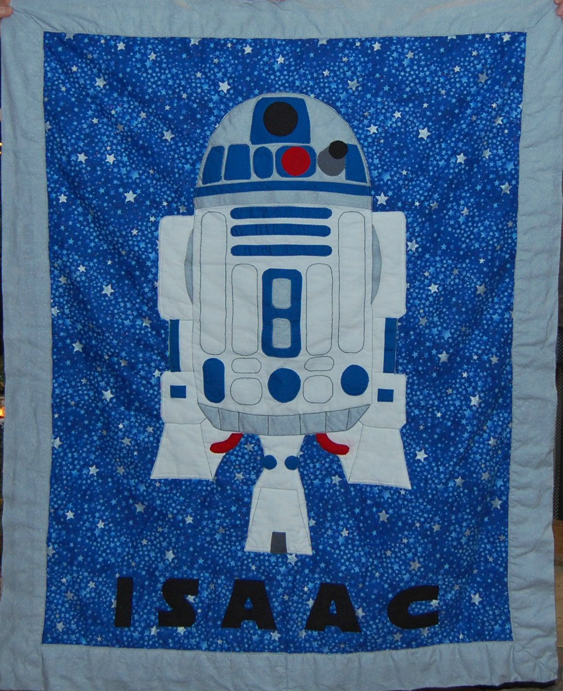 R2D2 quilt I made for my GREAT nephew!