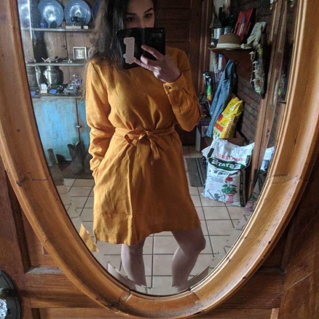 Woman linen pajama set. Bridesmaid linen pajama. Linen playsuit. linen jumpsuit. Linen red pajama. Linen sleepwear. Washed linen #linentunic