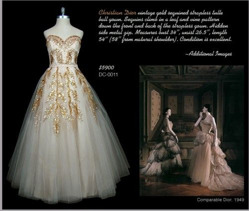#vintage 1950's era Christian Dior Wedding Gown. PS click to be taken to a great wedding blog specializing in 50's inspiration!  Vintage dress #2dayslook #Vintagestyle #Vintagefashiondress  www.2dayslook.com