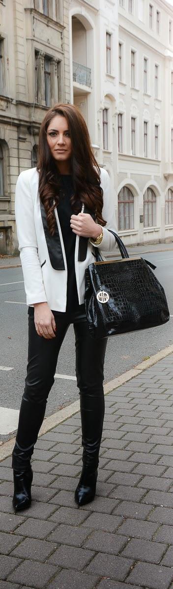 Tuxedo Blazer - that bag!!!