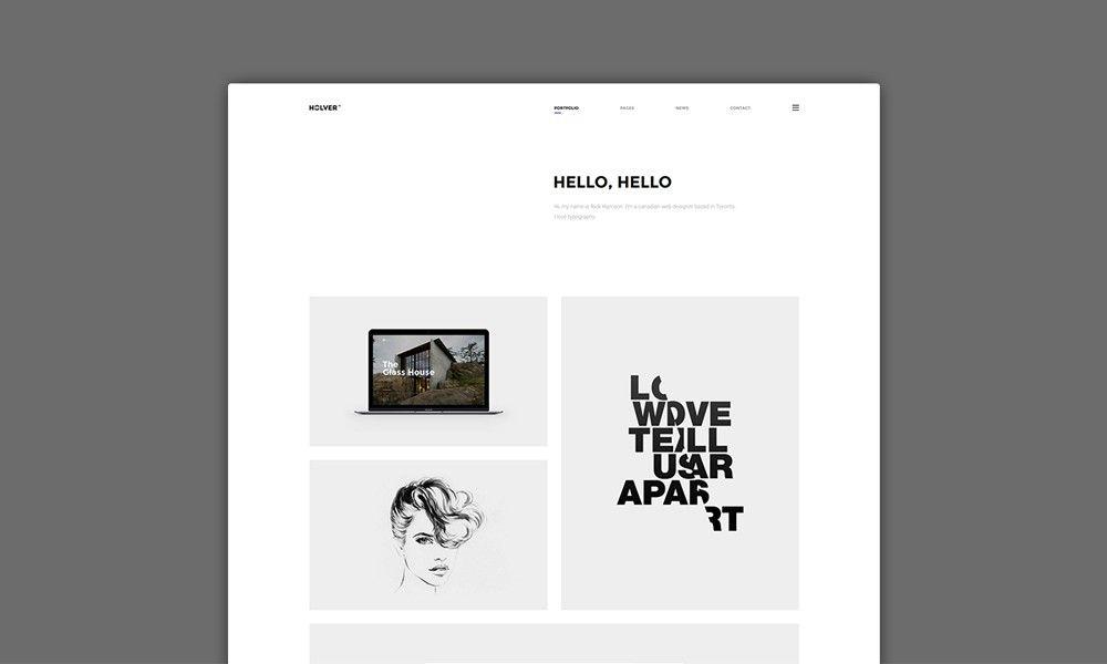 Theme Of The 15 Sep 2017 Holver - Minimal Portfolio WordPress Theme ...