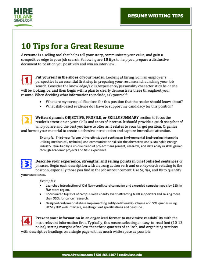 Tips Good Writing Resume  HttpResumesdesignComTips