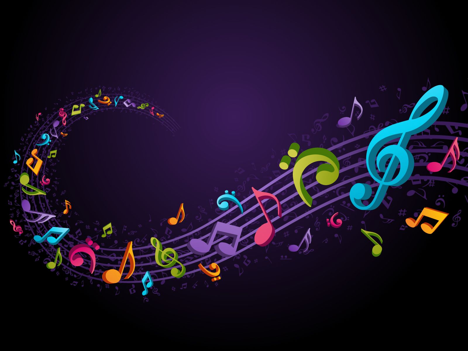 Musical notes staff background on white vector by tassel78 image - 25 Music Wallpapers Backgrounds Images Pictures Design Trends