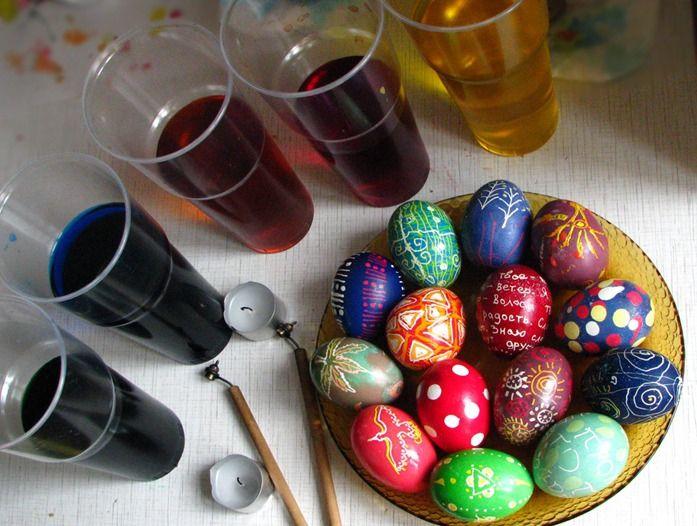 Мастер-класс по росписи пасхальных яиц воском