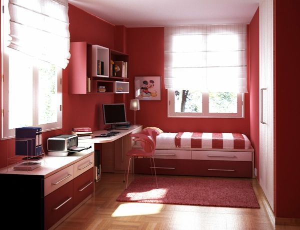 wände-rot-streichen-im-kinderzimmer - Warme Wandfarben u2013 genießen - zimmer streichen ideen