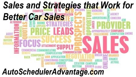 Sales and Strategies that Work for Better Car Sales