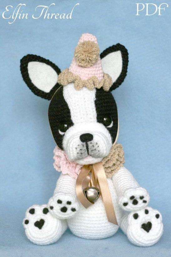 Elfin Thread- Gaspard the French Bulldog Clown PDF Amigurumi Pattern ...