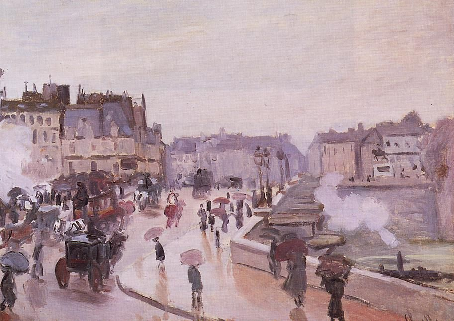 PONT NEUF PARIS FRANCE CAMILLE PISSARRO FRENCH PAINTING ART REAL CANVAS PRINT