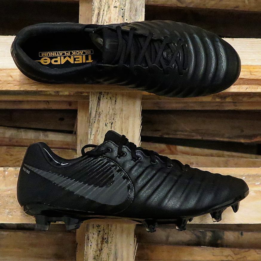 8b33ced18 The Black Platinum Nike Tiempo Legend VII boots introduce a stealth look  for the next-gen Tiempo.