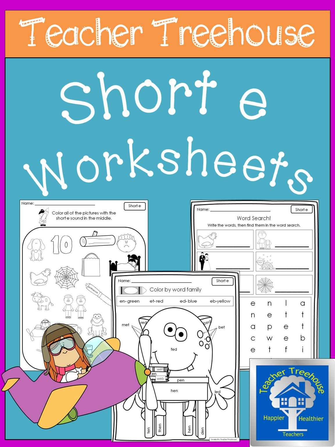 Short E Worksheets - Short E Activities | Kindergarten Literacy Fun ...