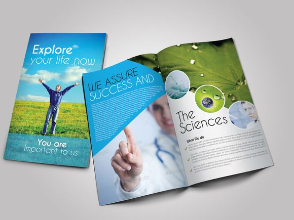Scientific Medical Bifold Brochure by Leza on Creative Market - medical brochures templates