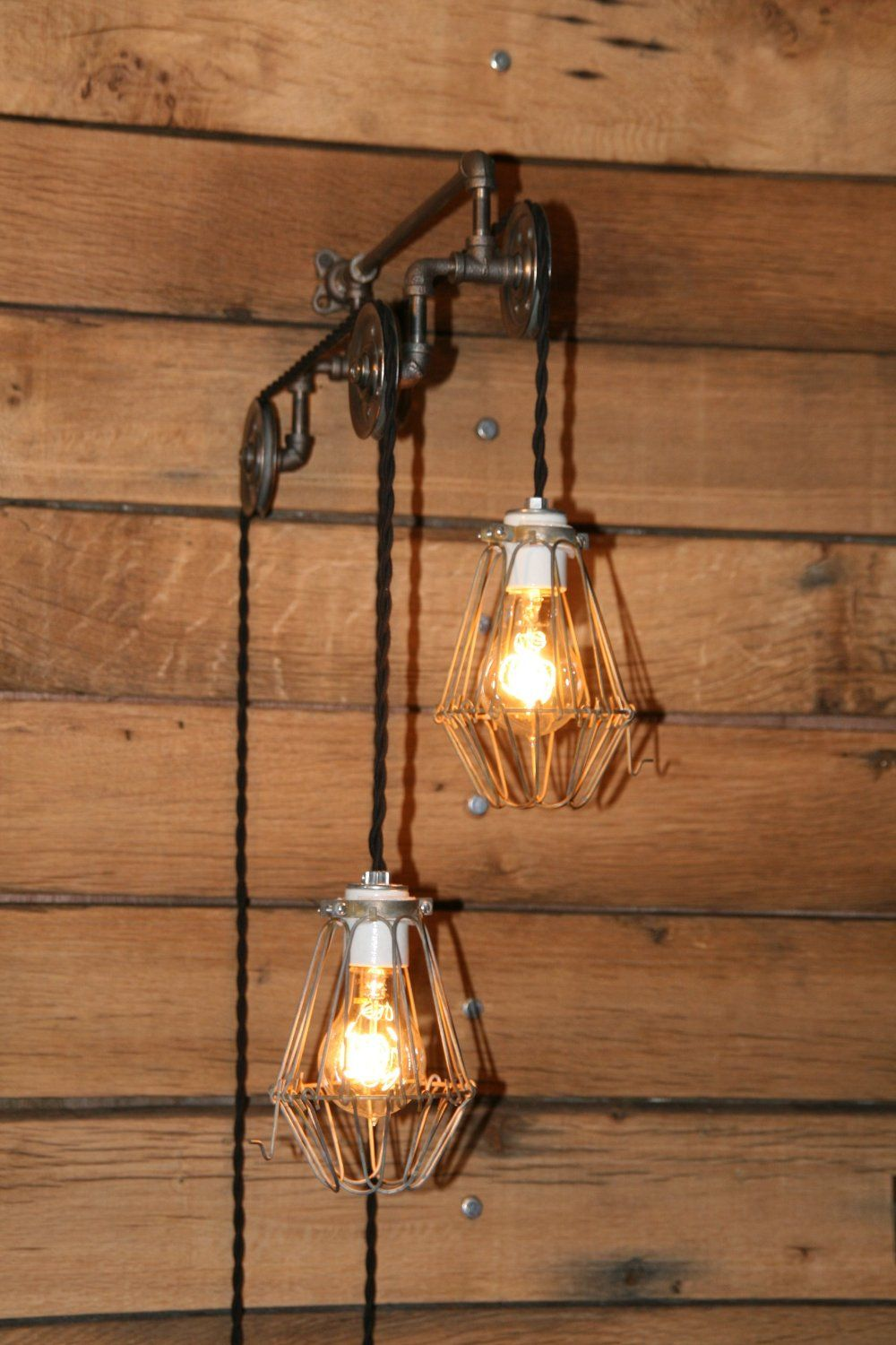 Industrial pulley light wall sconce trolley wall light with industrial pulley light wall sconce trolley wall light with hanging pendant lights pendant lighting edison style bulbs inc aloadofball Image collections