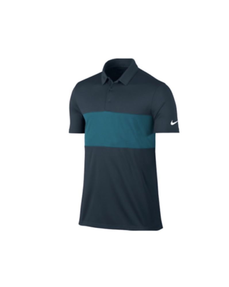 Mens Nike Golf Color Breathe Dri Fit Polo Shirt Dark Blue Teal