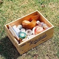 picnic food in a apple crate - Google Search