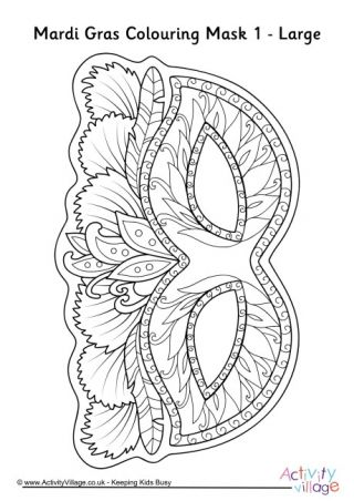 Valentines Mask Colouring Page Coloring Mask Mardi Gras Mardi