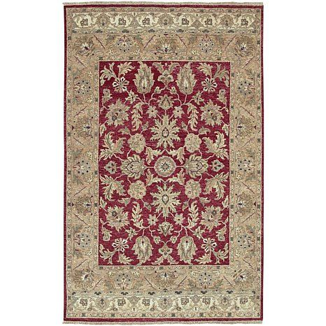 Surya Timeless Collection 100% Wool Rug - Red/8' x 11'