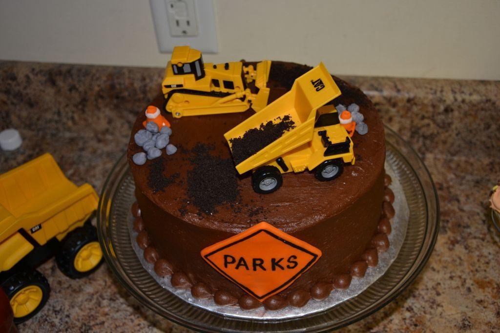 Happy Birthday Parks Dump Truck Cakes Cupcake Cakes Cake