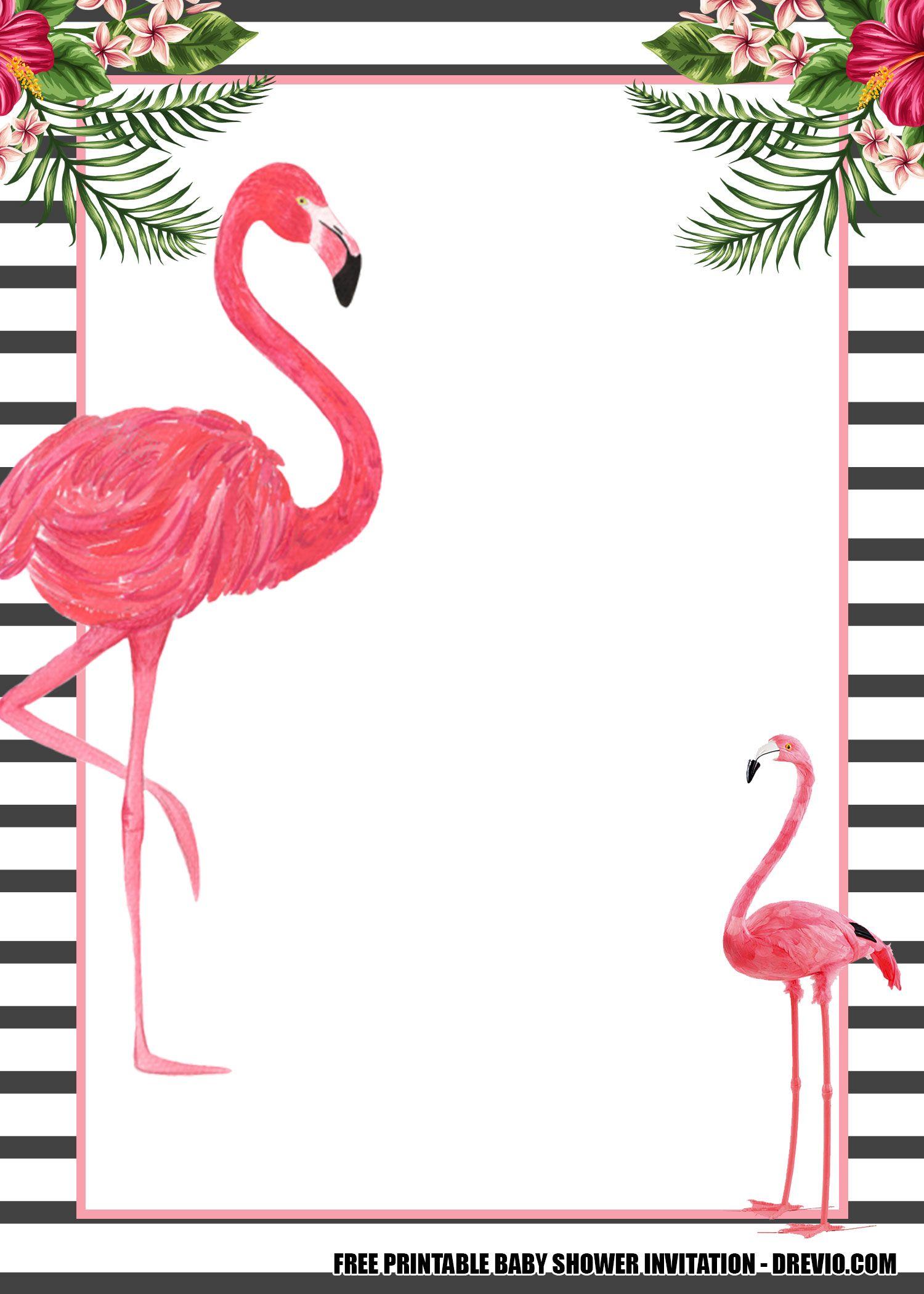 16 free flamingo invitations templates