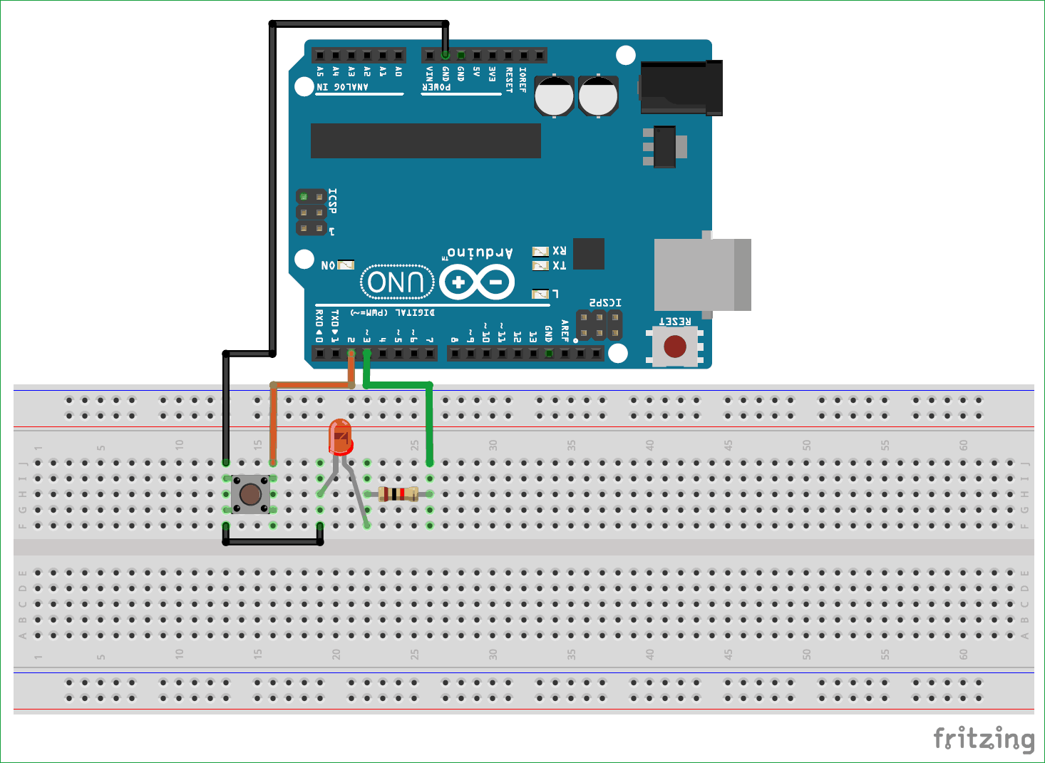 Arduino Led Blinking Circuit Diagram Electronic Diagrams Ckt