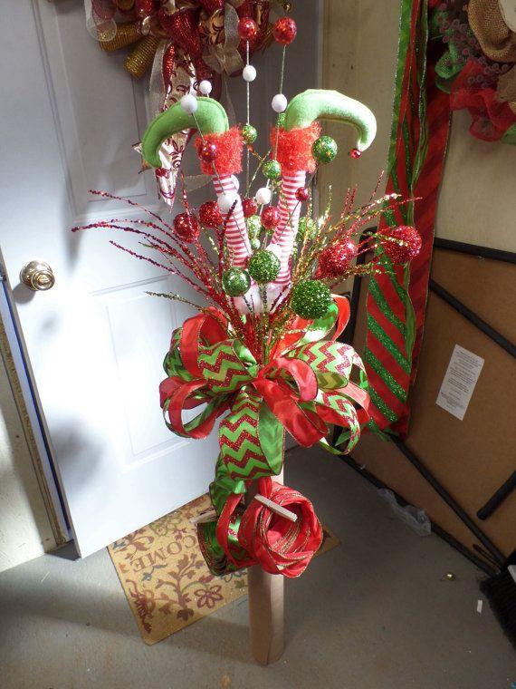 Elf Legs Christmas Tree Topper on Etsy, $100.00 | Christmas ...