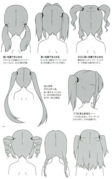 22 Ideas Drawing Tutorial Hair Girls Anime Hairstyles