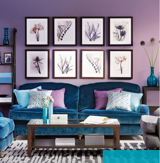 Best Lavendar Turquoise Palette Fabulous Color Lilac Living Rooms Purple Rooms Blue Sofa Set 400 x 300