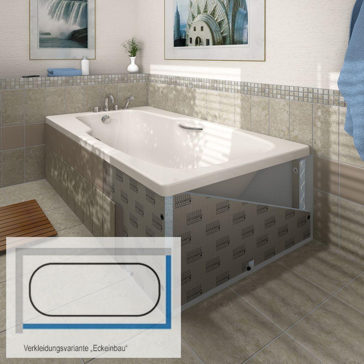 Fliesenschiene24 Badewannenverkleidung Eckeinbau Badewannenverkleidung Wanne Verkleidung