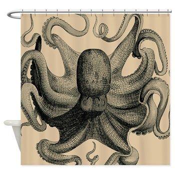 Beautiful Vintage Octopus Shower Curtain