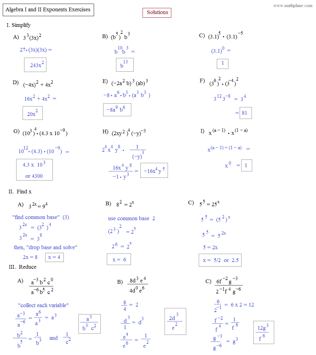 Worksheets Advanced Algebra Worksheets With Answers math plane algebra ii preview pinterest preview
