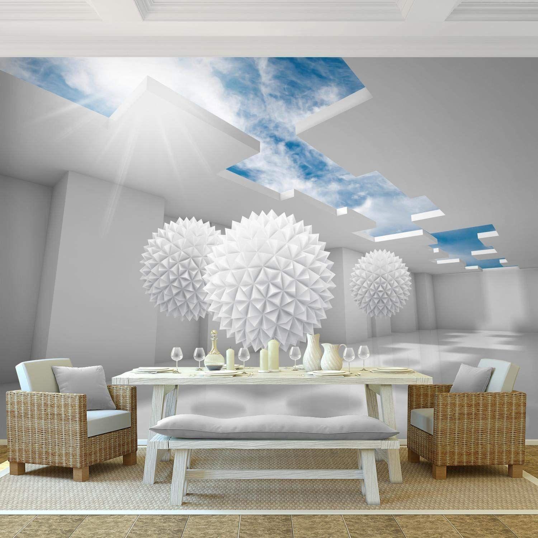 Fototapeten 3d Blau 352 X 250 Cm Vlies Wand Tapete Wohnzimmer