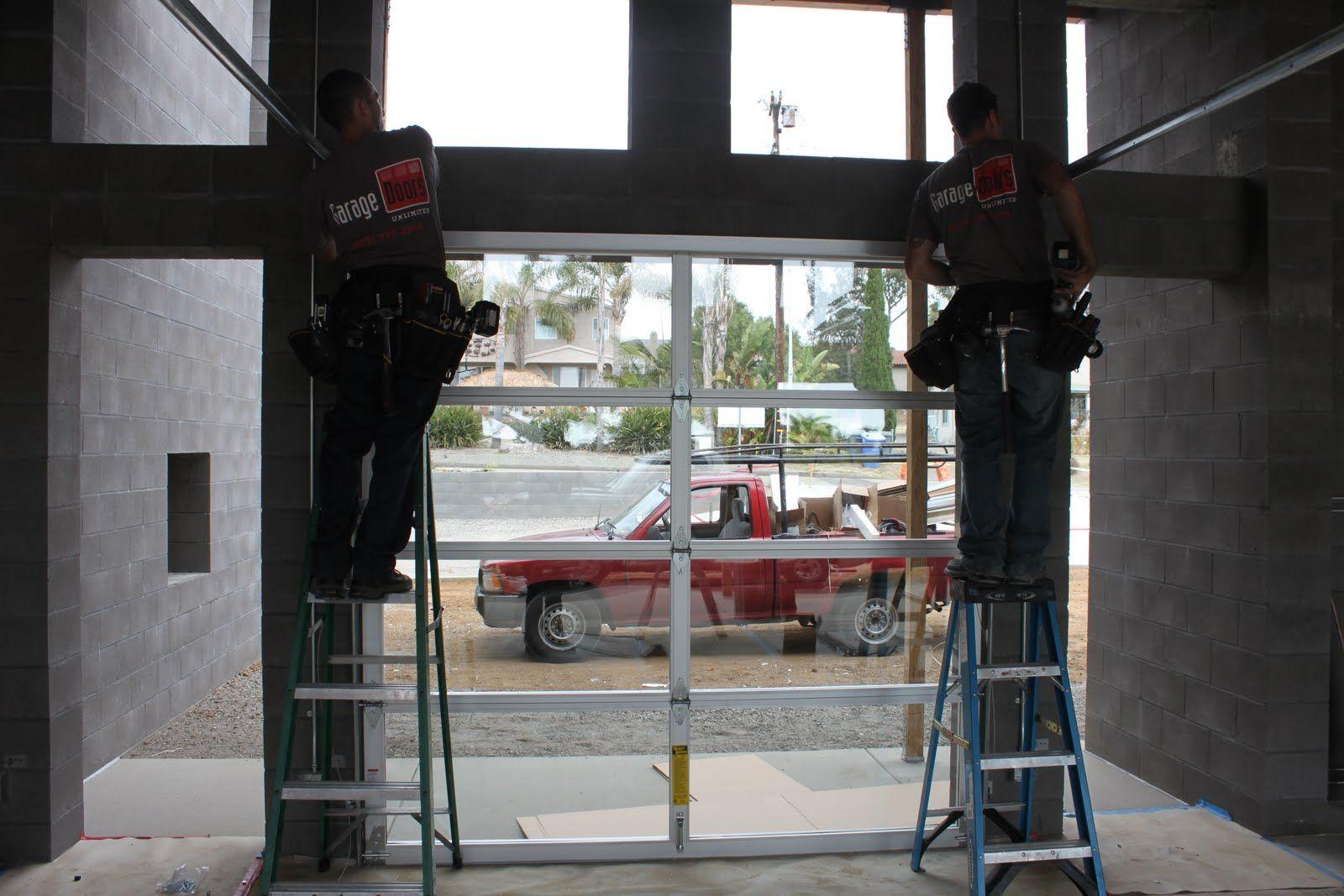 Wonderful Aluminum Full View Glass Garage Doors On Restaurant | Garage Doors Unlimited:  3u0027s A Crowd