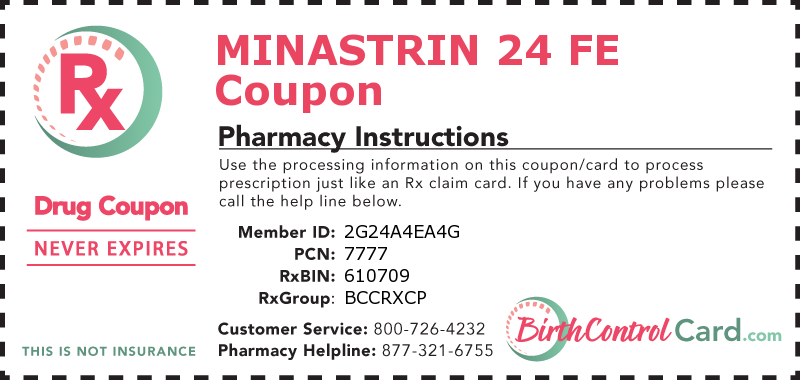Minastrin 24 Fe Coupon Bioequivalent To Loestrin 24 Fe Birth