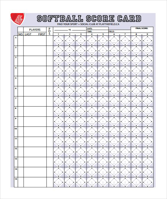 Softball Score Sheet Template Baseball Score Sheets Edited Baseball